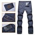 Angelo galasso das calças de brim dos homens 2016 novo style100 % algodão de moda comercial meados de cintura conforto alta tecido cavalheiro frete grátis