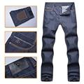 Angelo galasso jeans hombres 2016 nueva style100 % algodón de moda de mediados de cintura alta comodidad tela caballero comercial envío libre