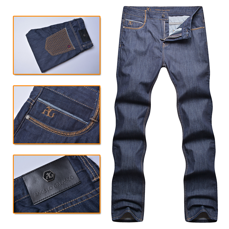 Angelo galasso jeans men's 2016 new style100% cotton fashion commercial mid waist comfort high fabric gentleman free shipping зимняя шина nokian hakkapeliitta suv 5 xl 225 65 r17 106t