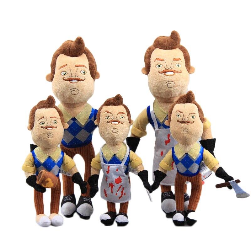 Olá vizinho o vizinho avental cleaver brinquedos de pelúcia macio enchido boneca crianças 30/40cm