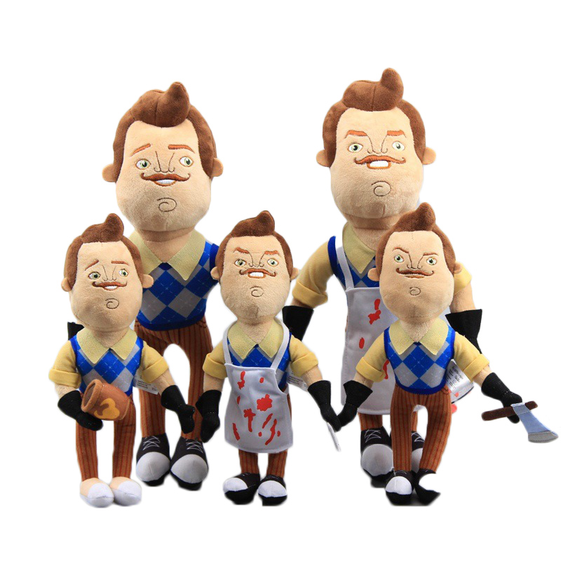 Hello Neighbor The Neighbor Apron  Cleaver Plush Toys Soft Stuffed Doll Children Gift 30/40cm