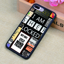 I AM SHERLOCK DOCTOR WHO Collage Soft Rubber Mobile Phone Case OEM For iPhone 6 6S Plus 7 7Plus 5 5S 5C SE 4 4S Back Cover Shell