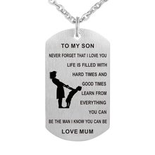 My Son necklace Stainless Steel Mother son Pendant Necklace Nameplated Necklace To my son Gift from Love Mom(China)