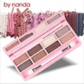 9 colors Shimmer Eyeshadow Makeup Palette by nanda Lasting Waterproof Multicolor Eyeshadow Women nature naked smoky eyeshadow