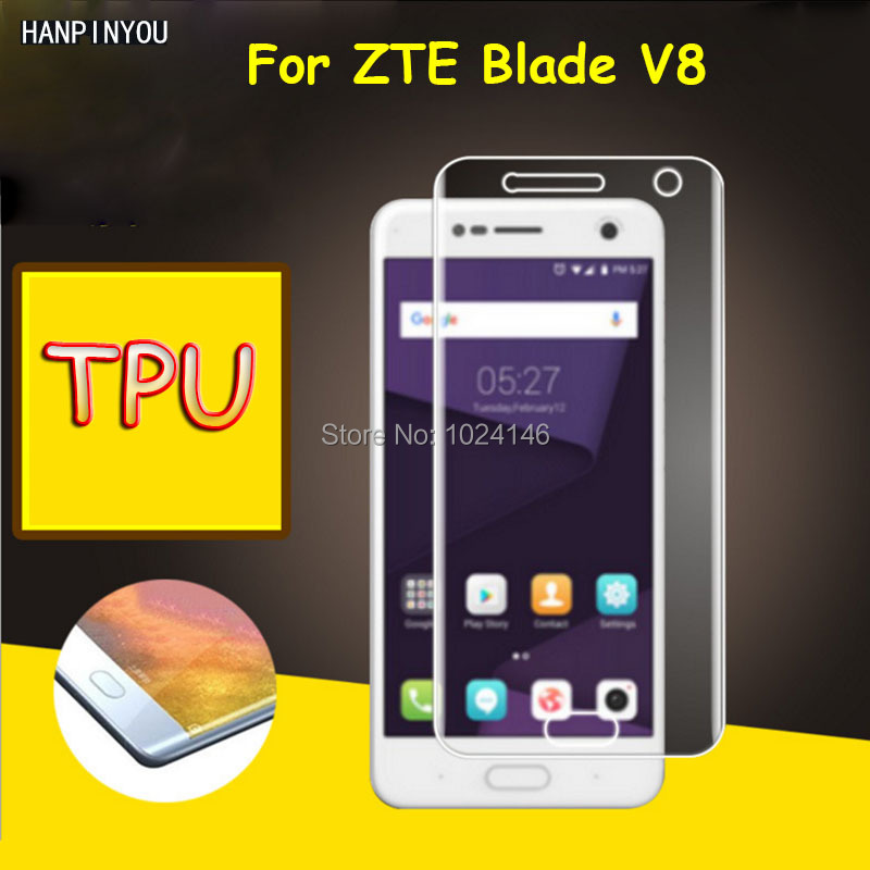 Full Coverage Clear Soft TPU Film Screen Protector For ZTE Blade V8 5.2, Cover Curved Parts (Not Tempered Glass)