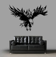Wall Decal Sticker Eagle Soaring Bird Tattoo Style Bedroom Living Room