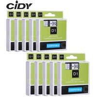CIDY Dymo D1 45013 12mm Schwarz auf Weiß kompatibel für DYMO D1 Label Band 45018 45010 45021 für Label manager Maker 210 450 LM160