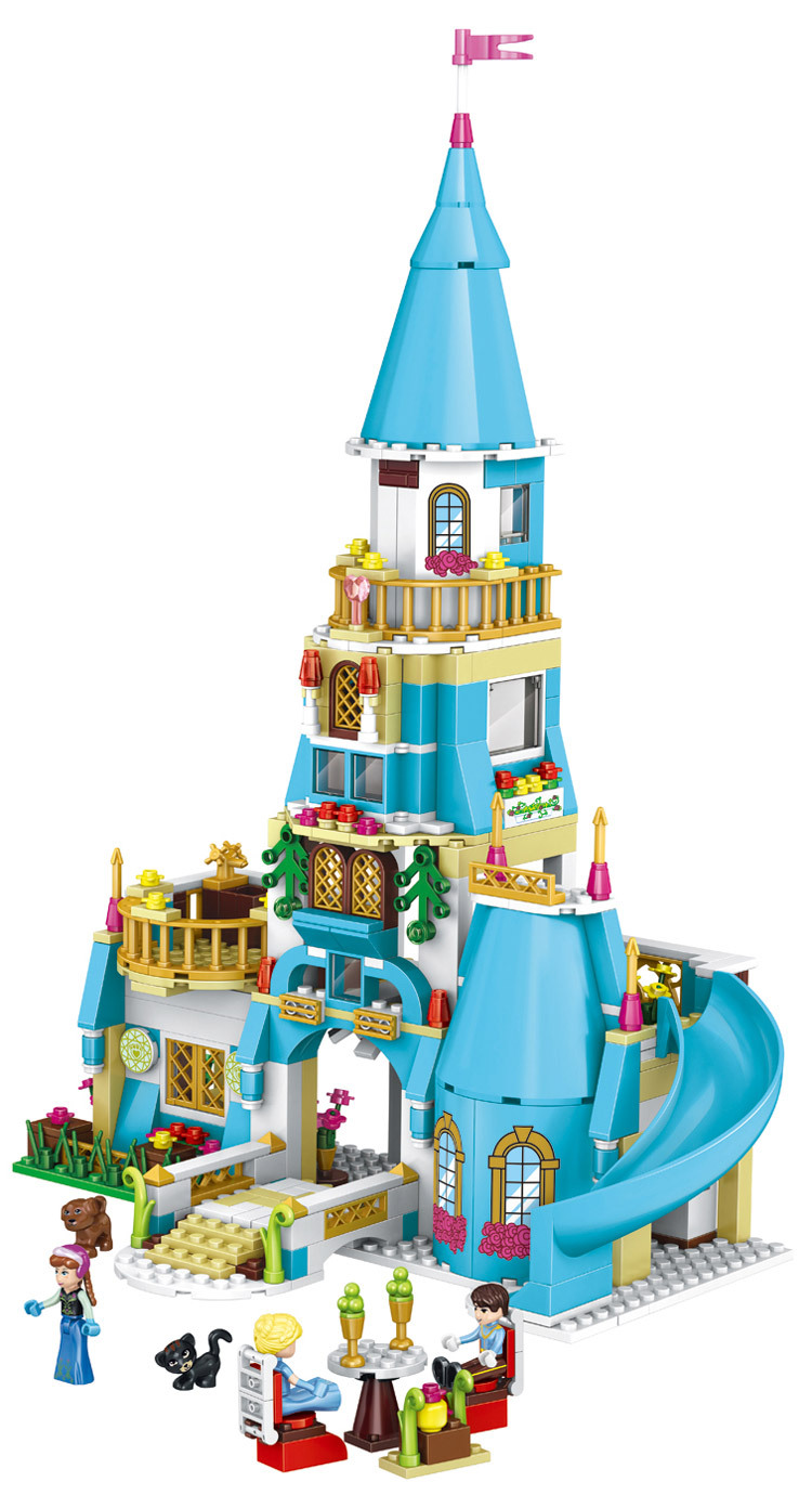 Girl Friends Princess Anna The Princess Castle Model Building Kits Blocks Bricks Girl Toys Compatible with lego kid gift set 10551 elves ragana s magic shadow castle building blocks bricks toys for children toys compatible with lego gift kid set girls