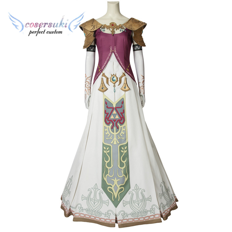 The Legend of Zelda Twilight Princess Princess Zelda Cosplay Costumes Stage Performence Clothes Perfect Custom for