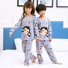 New Listing 2017 Children Clothing Autumn Winter Girls Baby Pajamas Cotton Boy  Nightgown Kids Home Cltoh Girl Sleepwear Set