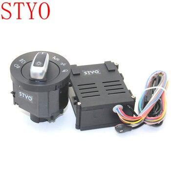 STYO Otomatik Işık Sensörü Far Ile anahtar düğmesi VW Golf 4 için MK4 Yeni j-etta MK4 Passat B5 Polo bora Beetle 5ND 941 431 B