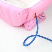 Newly Baby Inflatable Bathtub PVC Thick Portable Bathing Bath Tub for Kid Toddler Newborn TE889