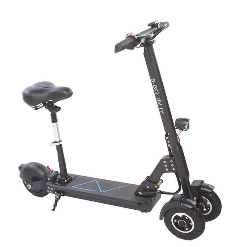 Electric Kick Scooter For Adult Three Wheels Electric Scooters 8 Inch 48V 500W Folding Electric Scooter Bike With Seat