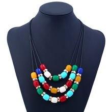 Популярное модное ожерелье карамельных цветов из смолы многослойная