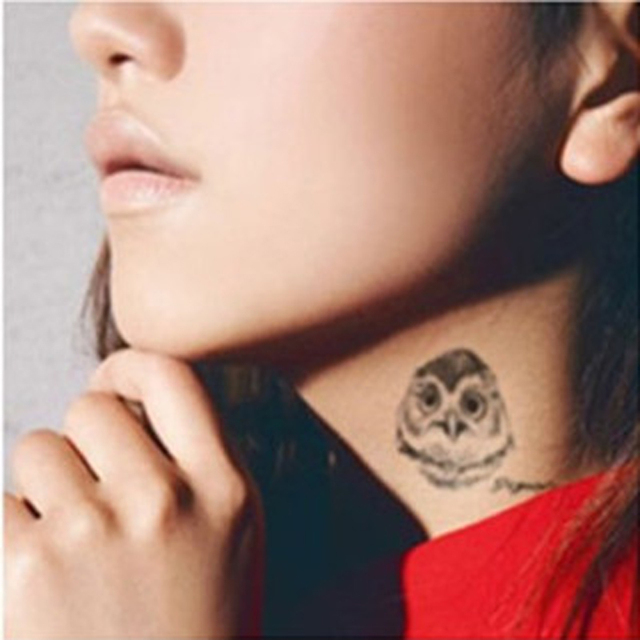 Us 101 10 Off1 Sztuk Sowa Tatuaż Jednorazowe 3d Wodoodporna Bodytattoo Art Arm Ręcznie Kot Tymczasowe Naklejki Z Tatuażami Hurtownie Wklej Wzór W
