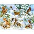 Алмазная картина «сделай сам», полноразмерная вышивка с изображением животных, лисы, кролика, оленя