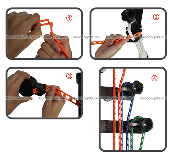 Photo Ptudio Equipment Studio 4 Roller Wall / Ceiling Mount Manual Elevator Background Backdrop Photography Support System