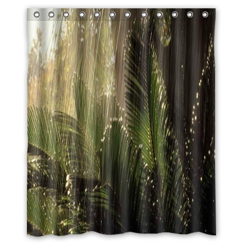 Bathroom Rugs 36 X 72: Jungle Green Plant Custom Shower Curtain Bathroom Decor