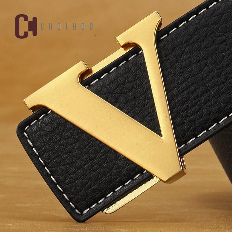 CHoihoo 2018 best-selling high-end luxury brand designers leather cowhide man V   belt  , ladies fashion   belt   famous women   belts   37