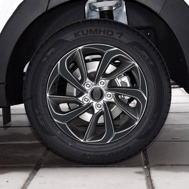 (fÜr 4 RÄder R17) ZubehÖr FÜr Hyundai Tucson 2015 2016 2017 Schwarze Carbonfaser-vinyl Radnabe Trim Aufkleber Auto Styling VerrüCkter Preis