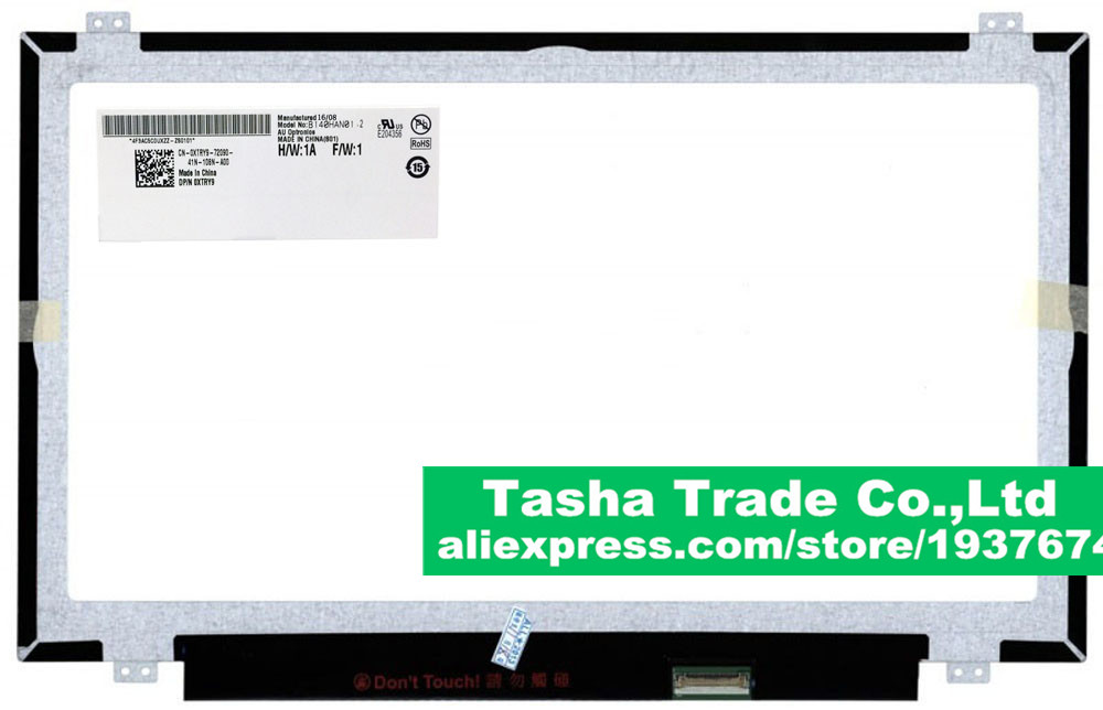 AU Optronics B140HAN01.2 for Lenovo ThinkPad T440P Screen LCD Display LCD Panel 1920*1080 eDP 30pin original 14 inch led 30pin 1920 1080 laptop led lcd screen auo b140han01 2 for lenovo y40 lcd display