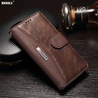 IDOOLS For Sony Xperia L1 Case Luxury Covers Plain PU Leather Wallet Phone Bags Cases For
