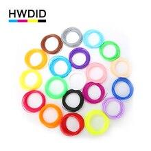 HWDID 20 color or 10 color/set 3D Pen Filament PLA 1.75mm Plastic Rubber Printing Material For 3D Printer Pen Filament-10m/color