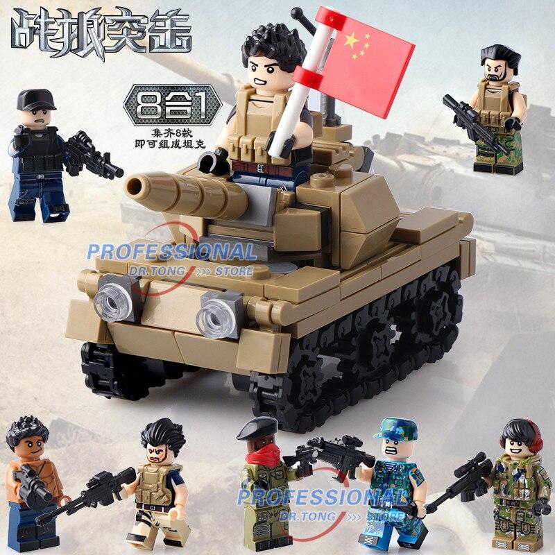 DR.TONG 80PCS/LOT DLP9059 8 in 1 Warriors MILITARY Tank Soldier Army Team Marines Building Blocks Figures Bricks Toys Gifts nikko машина nissan skyline gtr r34 street warriors 1 10 901584 в перми