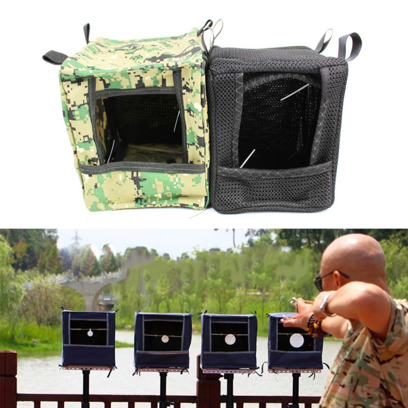 New Foldable Target Box Cloth Slingshot Target Box Recycle Shooting Archery Hunting Catapult Case Holder  Practice Target|Bow & Arrow| |  - title=
