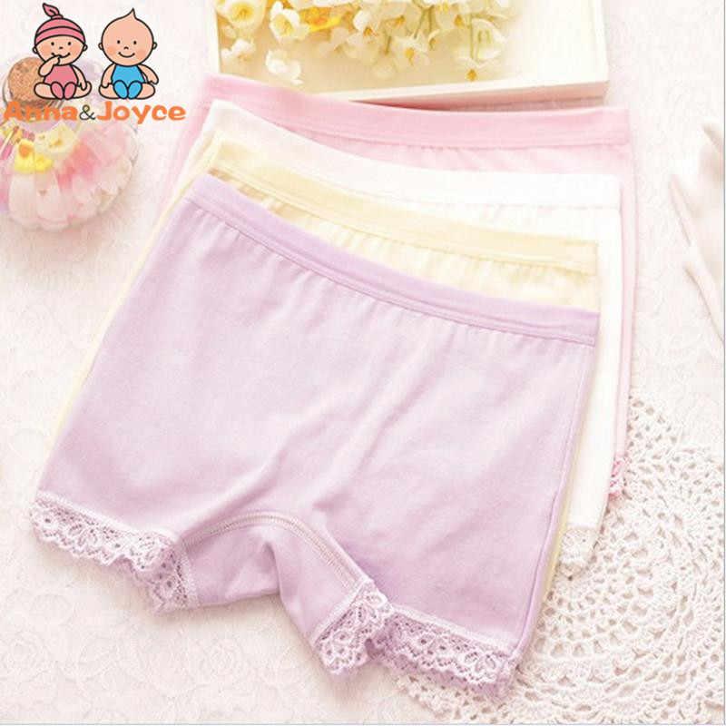 f757d3d6dcf1 2pcs/lot 100% Cotton Kids Panties Underwear for Children Baby Lace Under  Briefs Girls