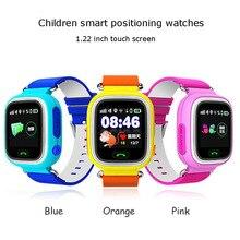 Q90 Niños del Reloj de 1.22 Pulgadas de Pantalla Táctil Inteligente de Posicionamiento Cinco Postion Precisa Llamada SOS Y Seguimiento de Repetición