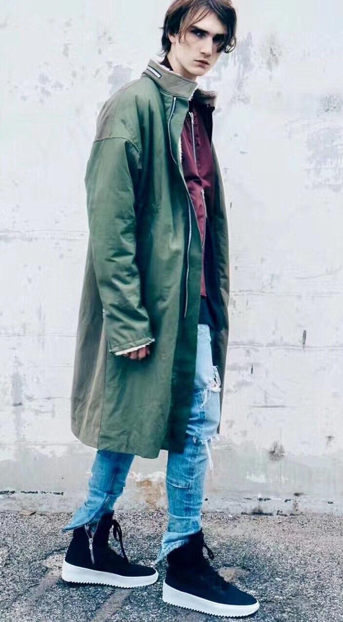 Hiphop Dieu Cut Justin Long Peur D'agneau Manteau La Brouillard De Out Laine Vestes 18fw Dernières vent Top À Hiver Chaud Coupe En Bieber L'intérieur qwRTzt0