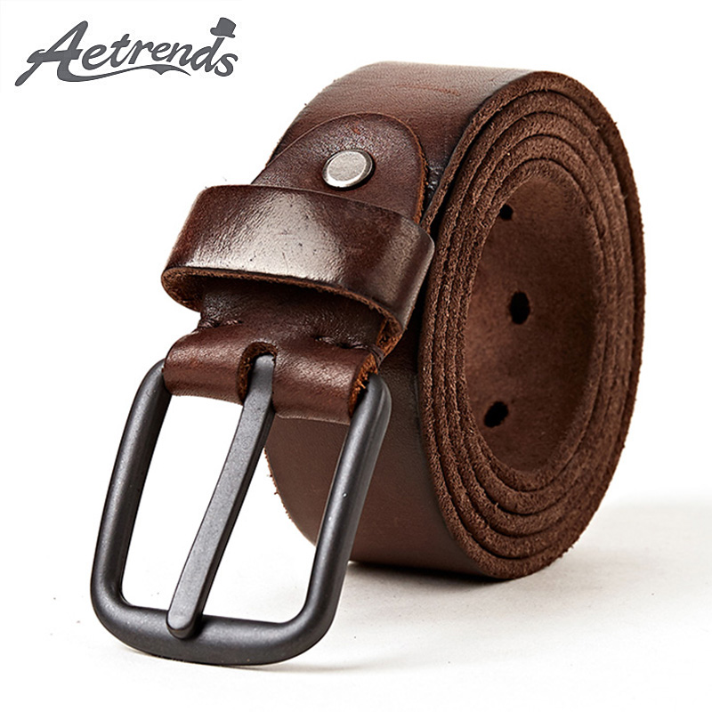 """Maine Casual Leather Belt With Antique Silver Curved Buckle 1 1//2/"""" Wide"""