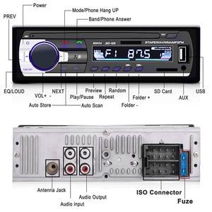 Image 2 - Radio de coche, reproductor de MP3 Digital para coche, receptor estéreo con Bluetooth incorporado, llamadas manos libres, 1 din, entrada de tarjeta SD auxiliar USB