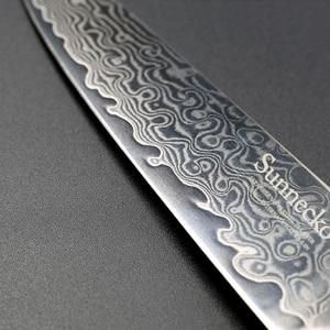 "Image 4 - New SUNNECKO 5"" inch Utility Knife Razor Sharp Blade Japanese VG10 Steel Kitchen Knives Damascus G10 Handle Chef Slicing Cutter"