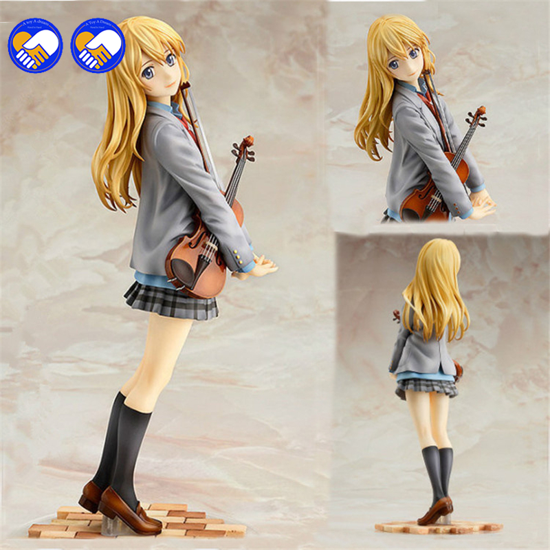A toy A dream 22cm New arrival action figure your lie in april kaori miyazono cartoon doll PVC japanese figurine world anime free shipping 1pcs anime lovelive sonoda umi action pvc figure toy tall 22cm in box