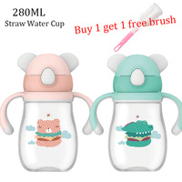 VALUEDER 280ML Baby Drink Cup kids anti choke handle children straw water cup Training Cups baby water bottle