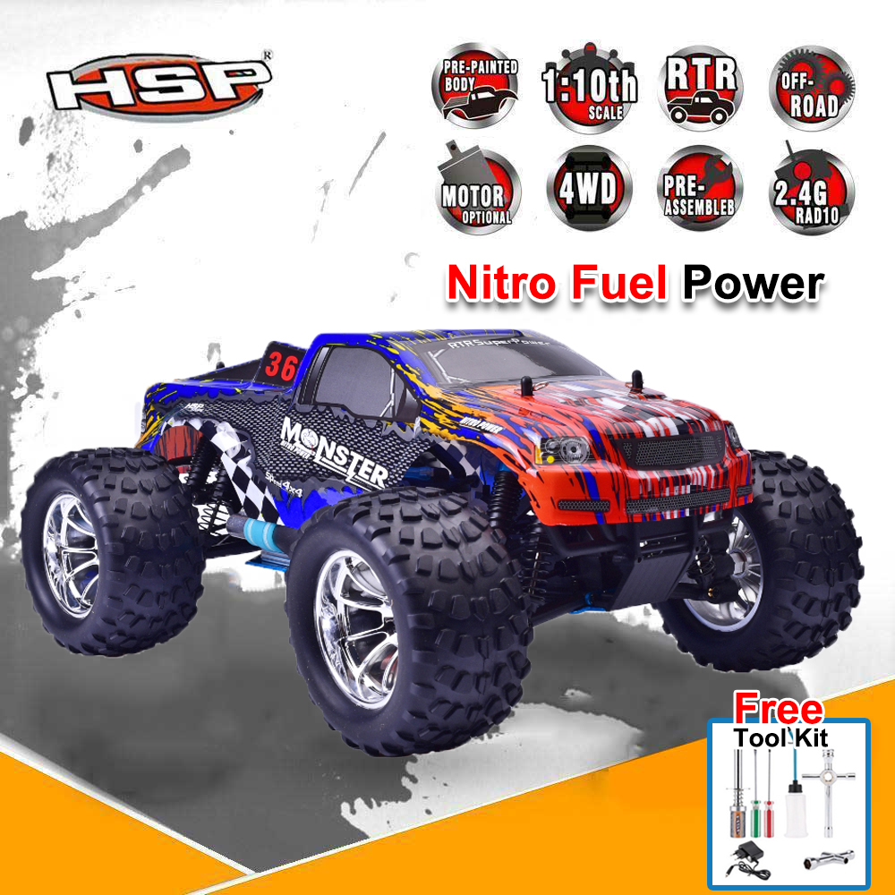Premium HSP 94188 RC Racing Truck 1:10 Scale Models Nitro Gas Power Off Road Monster 4wd Truck Remote Control Car 02023 clutch bell double gears 19t 24t for rc hsp 1 10th 4wd on road off road car truck silver