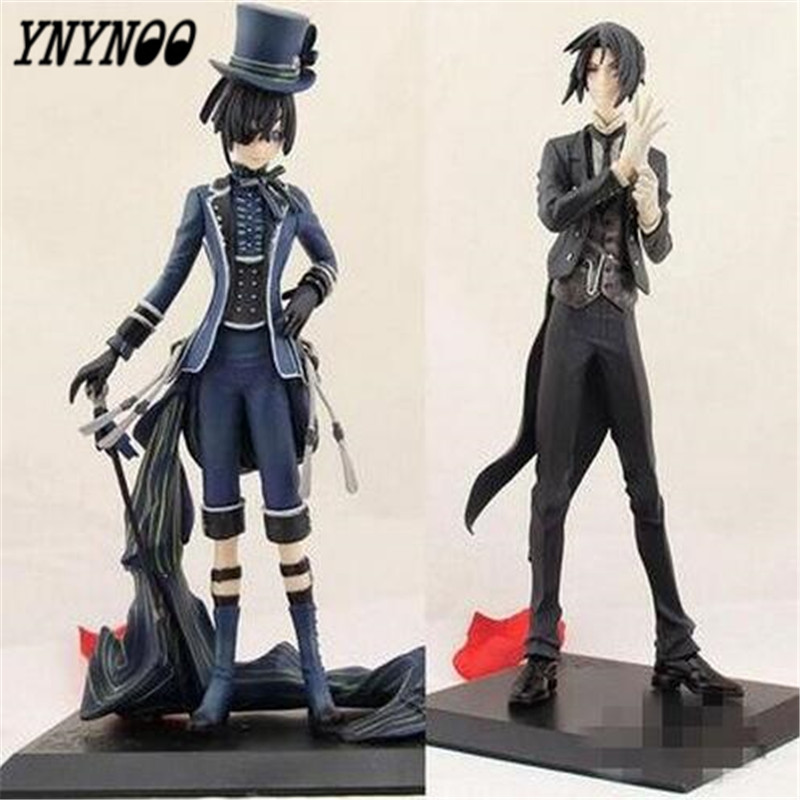 YNYNOO Anime Black Butler Phantomhive Kuroshitsuji Ciel and Sebastian PVC Action Figures Collectible Toys P543