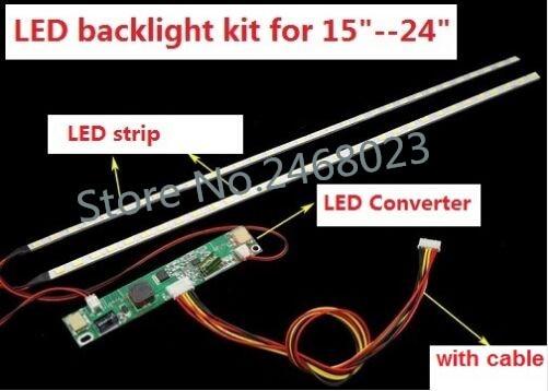 1set=6.50$ 5set=21.58$ adjustable light LEDbacklight <font><b>kit</b></font> 540mm,work for 15&#8243;17&#8243;19&#8243;22&#8243;22 inch 24&#8243;<font><b>upgrade</b></font> <font><b>LCD</b></font> screen to <font><b>LED</b></font> Monitor