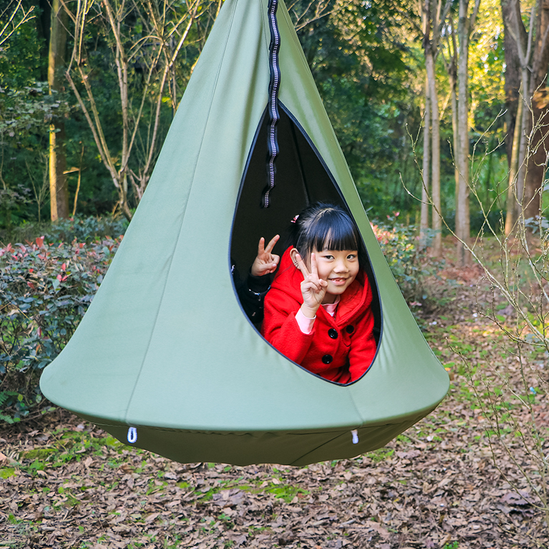 Children Cotton Hammock Pod Swing Chair Kid Hanging Seat Portable Camping Furniture Hang Bed Children Indoor orange green red 2 people portable parachute hammock outdoor survival camping hammocks garden leisure travel double hanging swing 2 6m 1 4m 3m 2m