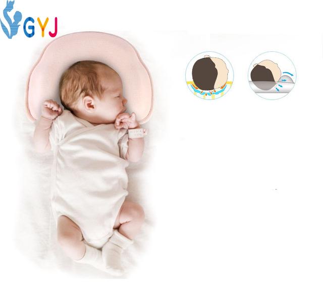 Bebê pillow prevent cabeça chata 30*24*5 cm rosa azul caso pescoço u em forma de travesseiro do bebê recém-nascido travesseiro para bebês cabeça proteções