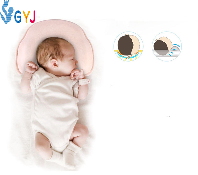 32cdf152c3cb baby pillow prevent flat head 30*24*5cm pink blue baby pillow newborn case