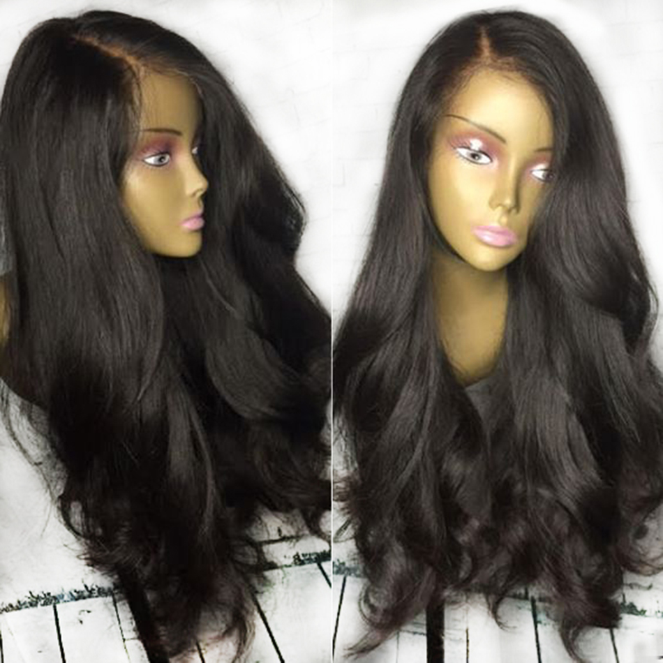 Fashion Style Natural Color Lace Front Wig With Deep Parting Non Remy Brazilian Human Hair Wigs With Baby Hair
