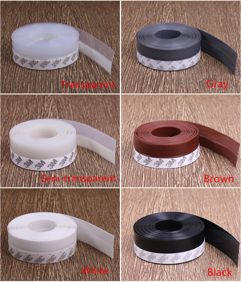 5 Meter Silicone Rubber 25mm Self-adhesive Adhesive Door Window Seal Strip Dust-proof Wind Strip Glass Door Strip Bottom Strip