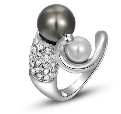 Timlee Zircon Girlfriend Man-made Fashion Peculiar Novel Ring Anniversary 2010204330