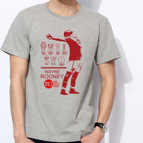 bbc6dc8d2 Men s Short sleeve t-shirt Wayne Rooney Manchester England Everton The Red  Devils 100% cotton jersey 253 goals