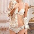 Modelos da marca de luxo conjunto de sutiã de renda lingerie sexy sexy calcinha e sutiã conjuntos bralette soutien desfiladeiro sutyen takimlari