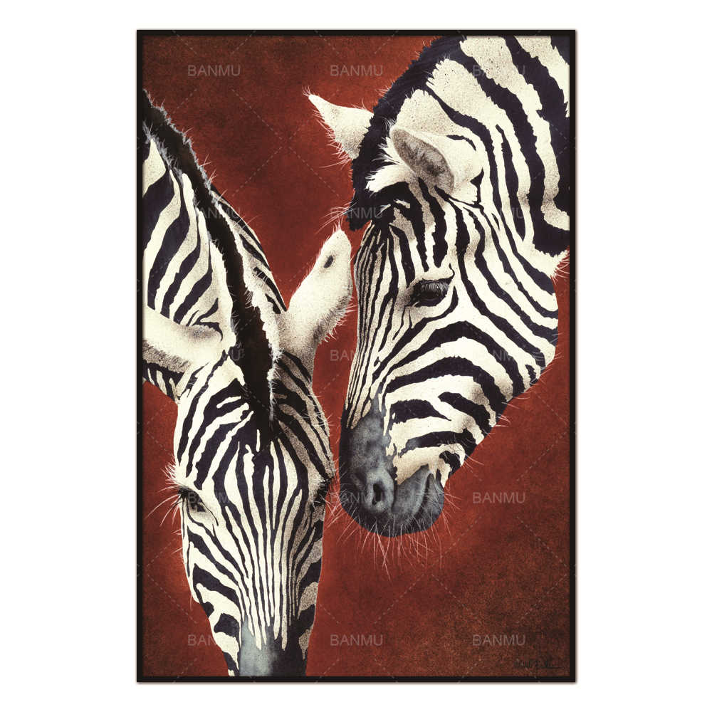 Nordic poster  Canvas Painting Zebra Animal Abstract Wall Pictures for Living Room Art Decoration Pictures Scandinavian
