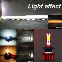 bulb 12v YIRAY Pair Car Headlight Bulbs Automobiles Mini H4 LED H11 9006 led bulb h1 9005 H7 led canbus Q1 Car Headlights 12V 50W 6000LM (2)